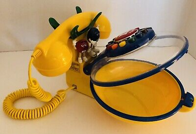 $19.99 • Buy Vintage Yellow M&M Talking Candy Dish Corded Telephone Phone Red Blue