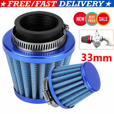 £5.40 • Buy 30mm Performance High Flow Induction Cone Air Filter For ATV Quad Dirt Pit Bike