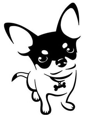 £3.05 • Buy Cute Chihuahua  Vinyl Decal Sticker For Car Van Lorry Camper Boat Wall 7.5  X 5