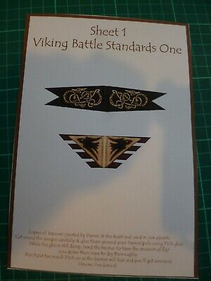 £2.50 • Buy Gripping Beast 28mm Scale Banner Sheets Dark Ages Selection