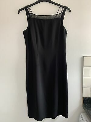 £18 • Buy Ladies Black Beaded Evening / Cocktail Dress Size 12 Worn Once Immaculate