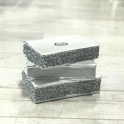 £34.99 • Buy Silver Crushed Diamond Sparkly Pile Of Books New Decoration Shelf Sitter Bling