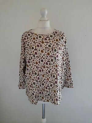 £22 • Buy Country Rose Woman Jersey Tree Owl Print Top Size L 16 Uk Relaxed Fit