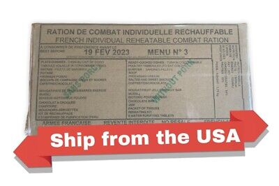$74 • Buy French MRE RCIR (24 Hr Ration) Military Surplus Menu 3, BB2023.Ship From The USA