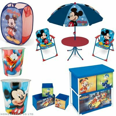 £10.99 • Buy Childrens Boys Mickey Mouse Bedroom Accessories Toys Storage Unit Set Bin Basket