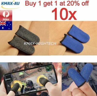AU6.25 • Buy 10 Pcs Sweat Proof Mobile Game Controller Finger Sleeve Touch Screen Gloves