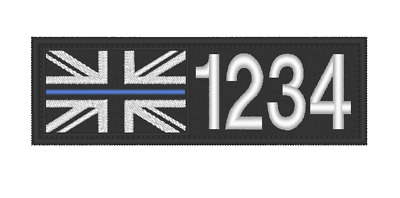 £4.99 • Buy THIN BLUE LINE,  I.D TAG, NAME PATCH, EMBROIDERED PATCH,  100 X 30mm
