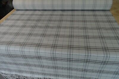 £7.99 • Buy Fabric Upholstery Silver Grey Checked Weave Robust Durable Material
