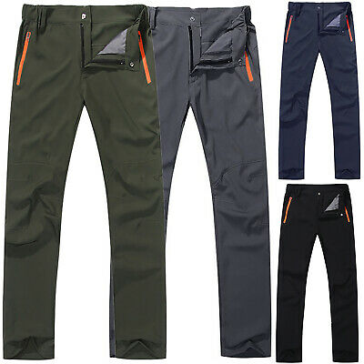 £17.19 • Buy Mens Casual Soft Shell Thermal Hiking Trousers Tactical Cargo Combat Work Pants