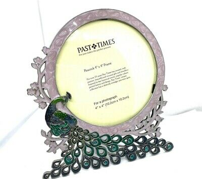 """£28 • Buy Lovely Vintage  Past Times  Enamelled Peacock Picture Frame (4"""" X 4"""")"""