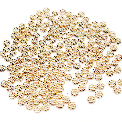£1.89 • Buy 100 4mm KC Gold Snowflake Daisy Spacer Beads