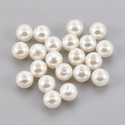 £1.56 • Buy 100pcs Cream Faux Pearl Beads For Jewellery Making 3mm