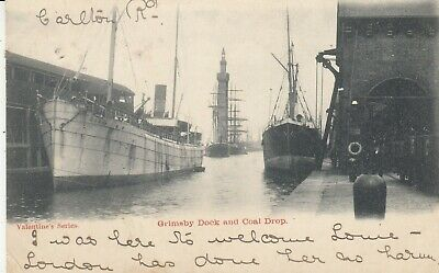 £5 • Buy GRIMSBY Docks & Coal Drop Ships Early U/b PPC By Valentines Used 1903