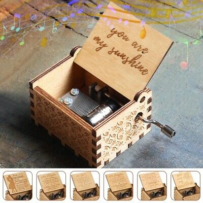 £7.29 • Buy Wooden Music Box You Are My Sunshine Engraved Valentine's Day Lover Gift To Wife