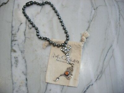 $375 • Buy M. Cohen Handmade Designs Red One Of A Kind Necklace.