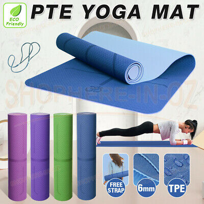 AU13.85 • Buy TPE Yoga Mat Non Slip Dual Layer Eco Friendly Gym Exercise Fitness Home Fitness