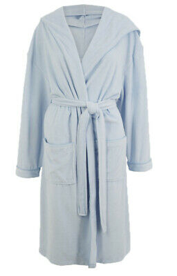 £15.95 • Buy Ex M*S Cotton Rich Velour Hooded Dressing Gown Size 16-18 (AR4.86)