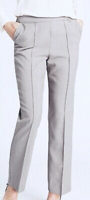 £7.99 • Buy M&s Ladies Size 8 24 High Rise Straight Leg Elastic Waist Pull On Trousers