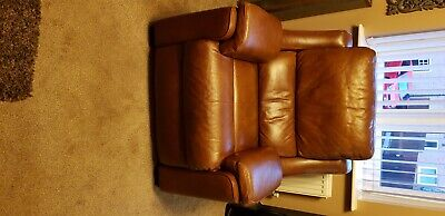 £600 • Buy Parker Knoll 3 Seater Leather Sofa And Electric Recliner Chair Excellent Quality