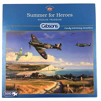 £14.97 • Buy Summer For Heroes Jigsaw Puzzle 500 Gibsons Spitfire RAF War Hurricanes Aircraft