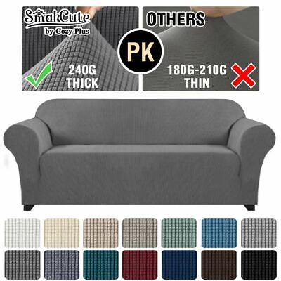 AU48.99 • Buy Form Fitted Stretch Couch Cover Sofa Cover Sofa Slip Covers Slipcovers More Size