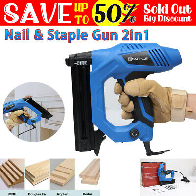 £40.40 • Buy 2in1 Electric Nail Staple Gun DIY Project Upholstery Carpentry Woodworking