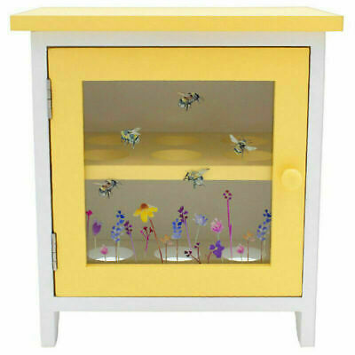 £19.75 • Buy Wooden 12 Egg Storage Cabinet Busy Bumble Bee Country Kitchen Decor Gift Home
