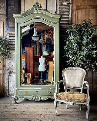 £995 • Buy Gorgeous French Mirrored Armoire / Linen Press