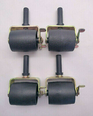 $ CDN30.35 • Buy Set Of 4 Caforo Locking Metal Bed Frame Casters - Roller Wheels With Brake