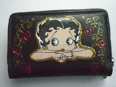 £12.99 • Buy NEW Black REAL  BETTY  BOOP   BLACK LEATHER  PURSE/WALLET.
