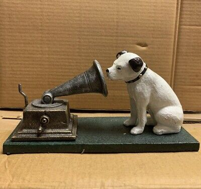 £20 • Buy Cast Iron HMV Dog And Gramophone Nipper Dog Ornament Reproduction