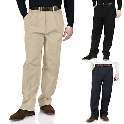 £9.99 • Buy New Mens Chinos Trousers Cotton Casual Twill Pants Smart Formal Straight Leg Fit