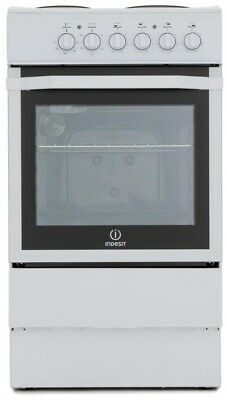 £149 • Buy Indesit I5ESH(W) Single Oven Cooker With Solid Plates B Rated 61L White