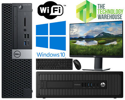 £144.85 • Buy Dell HP PC Computer Bundle With Intel I3 I5 I7 CPU + SSD + Windows 10 & Monitor