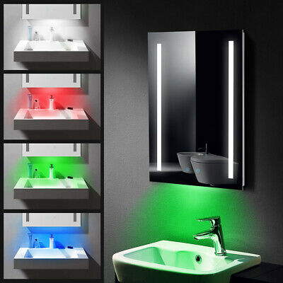 £66.99 • Buy LED Bathroom Mirror With RGB Light Shaver Socket / Demister / Touch Switch