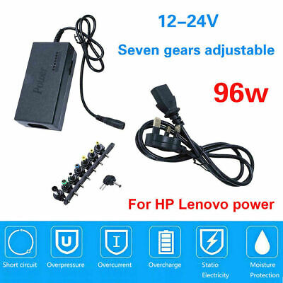 £9.99 • Buy 96W Laptop Power Adapter 12-24V Universal Adjustable Charger Supply 8 Connector