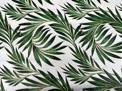 £9.99 • Buy Vinyl Pvc Tablecloth Cool Tropical Fern Textile Backed Plastic Wipe Clean Table