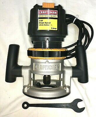 £109.55 • Buy Craftsman Professional Router 2 HP 9A 315.275000 1/4  Collet  SEE VIDEO BELOW