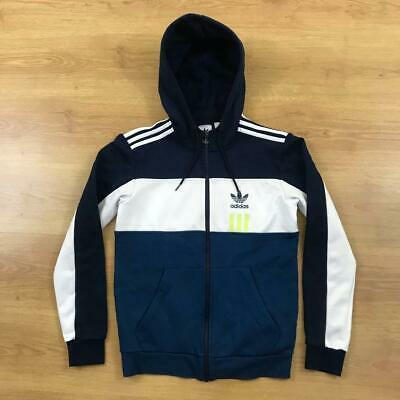 £27.99 • Buy Adidas Originals Small Blue White Trefoil Hooded Track Top Jacket 40  Chest