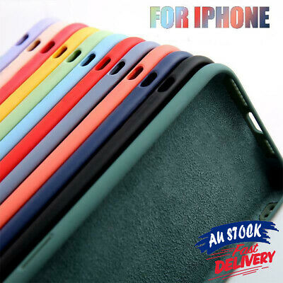 AU7.99 • Buy For IPhone 13 12 XS Shockproof Bumper Liquid Silicone Cover Case Soft Slim CAS#