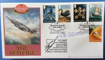 £60 • Buy PETE BROTHERS, Battle Of Britain Pilot, Signed 12.8.2003 Pub Signs FDC Spitfire