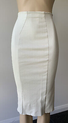 AU273 • Buy Scanlan Theodore Stretch Leather Midi Skirt Size 6 - Fits Small 8 Too