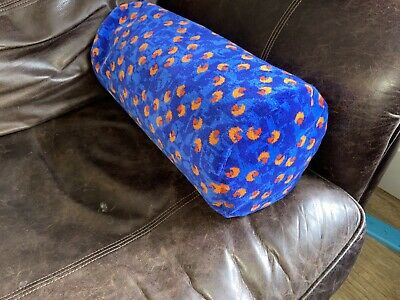 £49.95 • Buy Bolster Cushion Made From Stagecoach Blue Beach Ball Bus Moquette