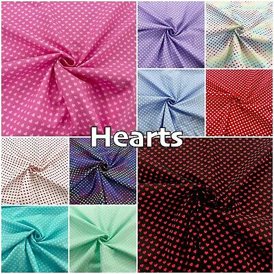 £3.55 • Buy Hearts Cotton Fabric Blender Multicolour Patchwork Fabric By Andover