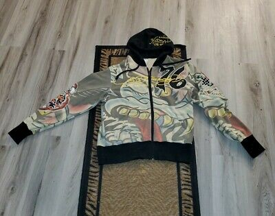 £49.57 • Buy Ed Hardy By Christian Audigier Zip-Up Jacket Hoodie Multicolor Size L