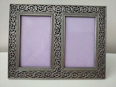 £9.95 • Buy Boots Rococo Style Double Photo Frame 17x12 Cm For Photo 2x3,5 In