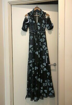 £49 • Buy Self Portrait Dress Size 6 UK Floor Length Long Fit And Flare