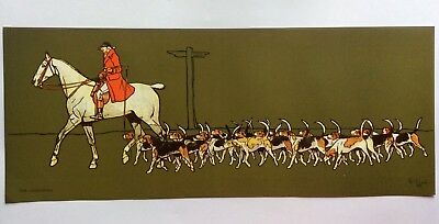 £25 • Buy Cecil Aldin  Lithograph Prints 'The Huntsman' And 'The Whip' Equestrian Hunting