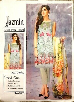£11.99 • Buy Pakistani Casual UN-Stitched Shalwar Kameez Embroided Linen With WOOL Shawl/SM1