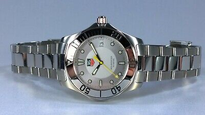 £695 • Buy TAG Heuer AQUARACER Mens Quartz Watch Silver Dial With Date Boxes & Books